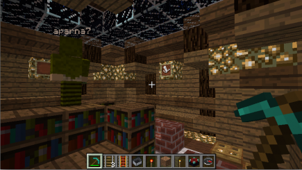 Putting finishing touches on the library
