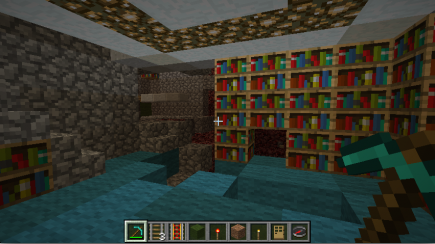 There had been an explosion in the nether library