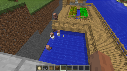 Some villagers are stuck in water. (Miranda added railing to help them, but it was too late...)
