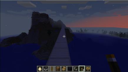 An island at dusk