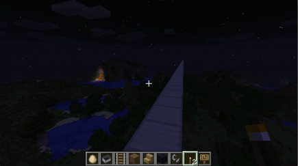 Lava at night