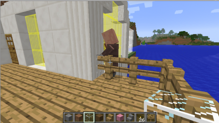 A villager is stuck