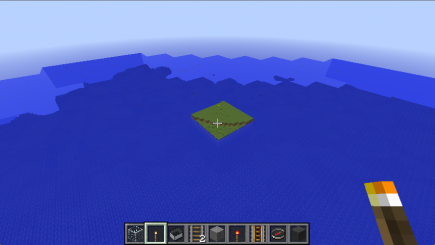 This isn't a rendering glitch, there really was a strange square island in the middle of the sea
