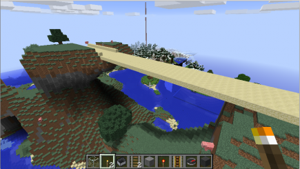 A sand bridge; I don't remember seeing this one before