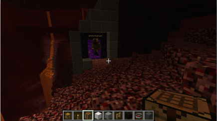 A building housing the nether portal