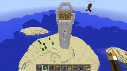 Working on the lighthouse