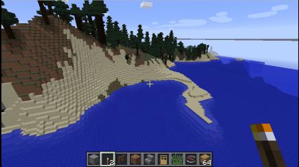 A sandy peninsula