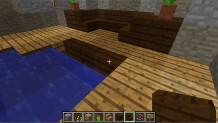 Maybe dark brown stairs would work better?