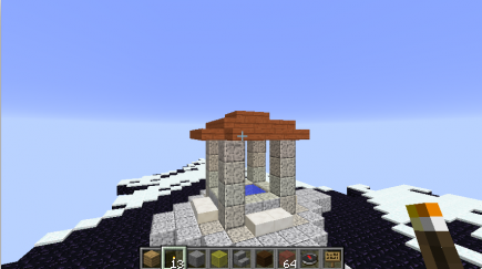 The temple on the top of the floating island