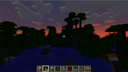 Sunset over a swamp